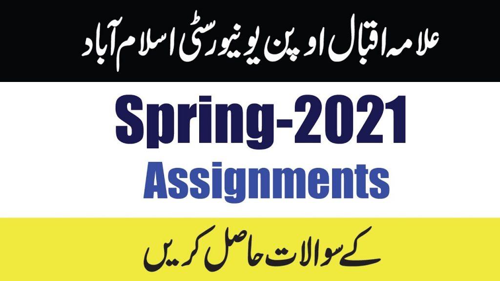 AIOU Assignments 2021